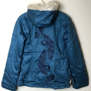 Sea Shepherd Ladies Classic Hoodlamb Coat S Ocean Blue